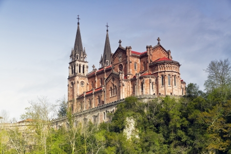 covadonga: Basilica of Our Lady of Battles, Covadonga, Asturias, Spain