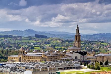 asturias: labor college oviedo, old university of gijon , spain