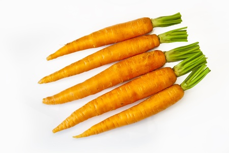 Fresh carrots isolated on white Stock Photo - 13849463