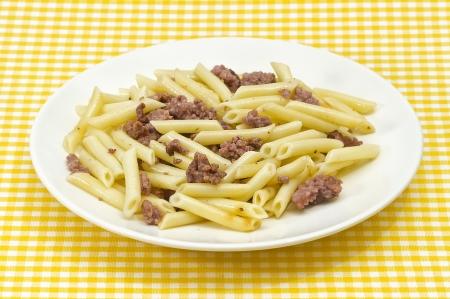 Traditional Italian macaroni pasta photo