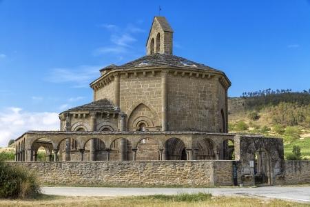 religiosity: Ermita de Santa Maria de Eunate on the Road to Santiago de Compostela