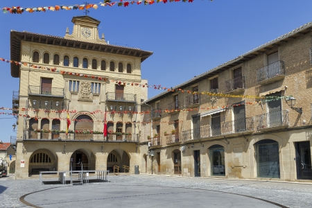 town hall olite village in navarra spain Stock Photo - 15020819