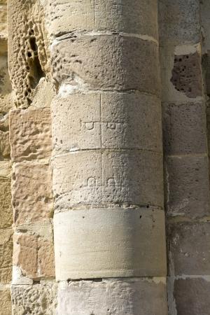 Celebrities stonecutter marks Eunate in Santa Maria Church, Navarra, Spain Stock Photo - 15020917