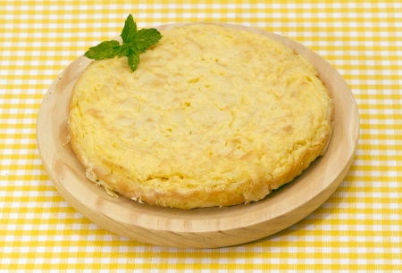 Spanish omelette with potatoes, parsley leaf gift auction photo