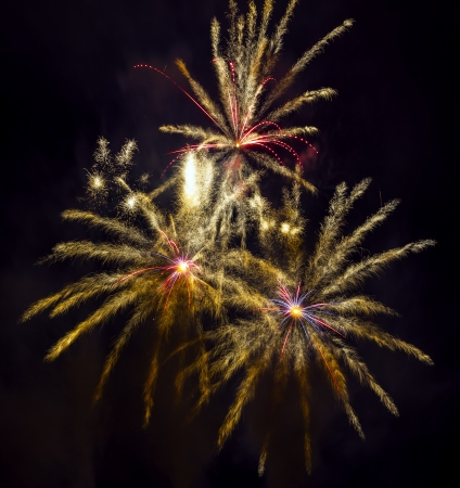 Firework celebration Barcelona Spain, fireworks festivals of Merced-2012 photo