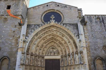 Church of Castellon de Ampurias Catalonia  Spain Stock Photo - 17596872