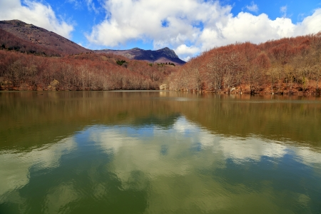 Lake Santa Fe, Montseny  Spain  Located in a beautiful setting of Barcelona  photo