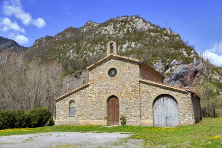 ribes: church of Ribes de Fresser and Ripoll Catalonia, Spain  At N 152, N 260 Stock Photo
