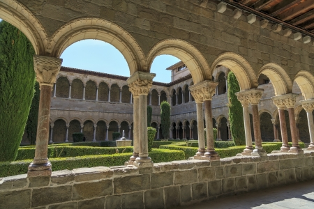Santa Maria de Ripoll monastery, Catalonia, Spain  Founded in 879, is considered the cradle of the catalan nation   Banco de Imagens