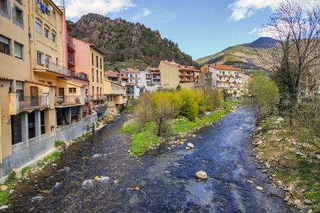 ribes: Ribes de Fresser rivers Freser and Rigard  Stock Photo