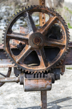 worm gear: worm gear driving a very old mechanism of open water channels