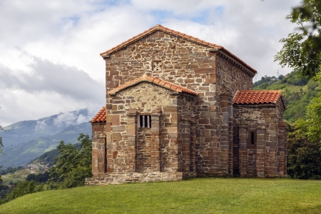 lena: Church of Santa Cristina de Lena Oviedo, Asturias Spain Stock Photo