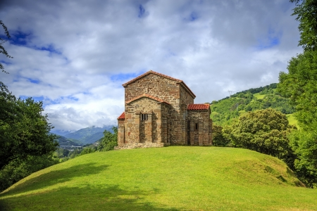 Church of Santa Cristina de Lena Oviedo, Asturias Spain 版權商用圖片