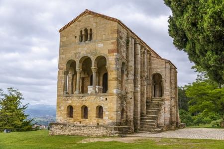 asturias: Church of Santa Maria del Naranco, IX century, in Oviedo Asturias, Spain, UNESCO