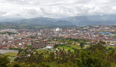 Panoramic view of the city of Oviedo, Asturias, Spain Stock Photo