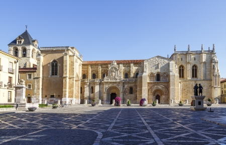 collegiate: Collegiate Church of San Isidoro, Leon Spain Stock Photo