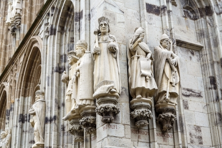 detail of the statues of the tower city of cologne, Germany photo