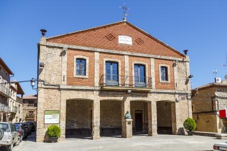 millan: Berceo City Council and School, La Rioja, San Millan birth and Gonzalo de Berceo Stock Photo