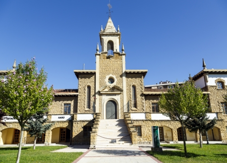 cid: Paternina Cid palace, former home cradle, now rehabilitated and guzgados bus station in Haro, La Rioja. Spain
