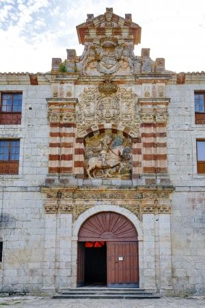 san pedro: San pedro de cardena in Burgos, Spain Stock Photo
