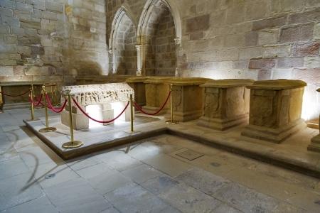 way of st james: Royal tombs in Santa Maria la Real monastery, Najera, La Rioja, Spain Editorial