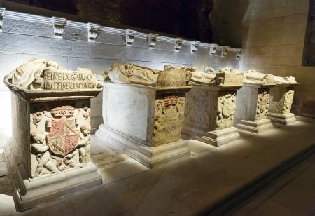 Royal tombs in Santa Maria la Real monastery, Najera, La Rioja, Spain Stock Photo - 22057230