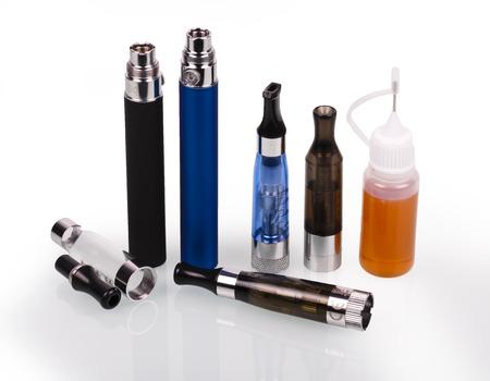 big electronic cigarettes isolated on white