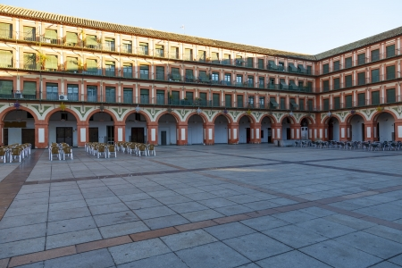 Plaza de la Corredera - Corredera Square in Cordoba, Andalusia, Spain  版權商用圖片