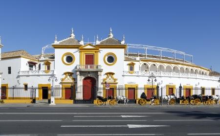 plaza de toros: View of Real Maestranza de Caballeria de Sevilla, in Seville, Spain