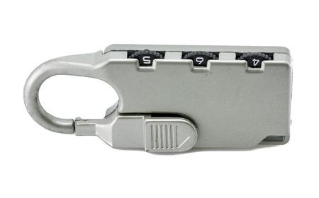 numerical combination lock three digit isolated on white  photo