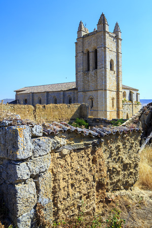 Church of St. John in Castrojeriz Burgos, Spain dates from the thirteenth century, with defensive tower photo