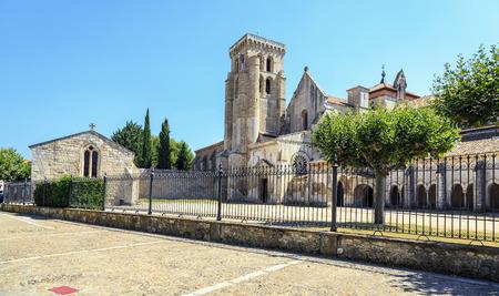 buttresses: Sanctuary of Huelgas in Burgos, Spain
