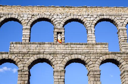 castilla leon: view of the aqueduct of Segovia, Castilla Leon, Spain