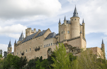 castilla: The famous Alcazar of Segovia, Castilla y Leon, Spain