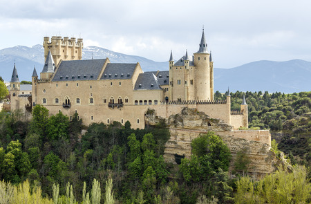 The famous Alcazar of Segovia, Castilla y Leon, Spain  photo
