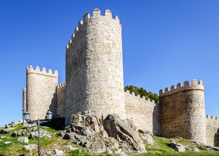 crenelation: Scenic medieval city walls of Avila, Spain