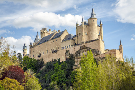 castile leon: The famous Alcazar of Segovia, Castilla y Leon, Spain