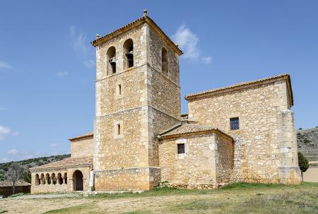 san miguel arcangel: Iglesia de San Miguel Arc�ngel en la provincia Andaluz de Soria, Espa�a Foto de archivo