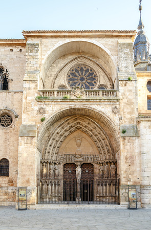 Cathedral of Burgo de Osma, Soria, Spain. It is a Gothic temple built on an area previously occupied by a Romanesque Church. The building started in 1232 and was completed in 1784 photo