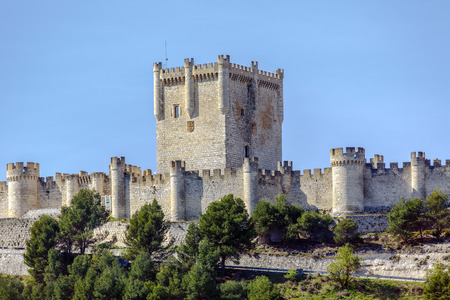 of homage: Penafiel Castle, Valladolid Province, Castile and Leon, Spain Tower of Homage Editorial