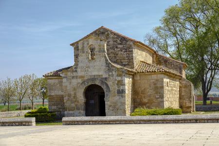 declared: Church of San Juan Bautista, Banos de Cerrato, Palencia, Spain. Seventh century, declared National Monument