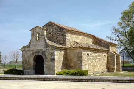 palencia province: Church of San Juan Bautista, Banos de Cerrato, Palencia, Spain. Seventh century, declared National Monument