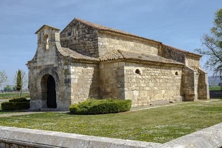 declared: Chiesa di San Juan Bautista, Banos de Cerrato, Palencia, Spagna. Settimo secolo, dichiarato Monumento Nazionale