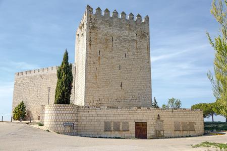 palencia province: Castle Monzon de Campos in Palencia, Spain