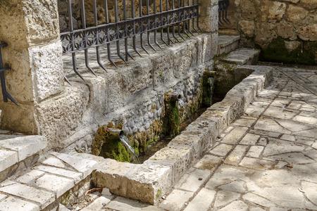 declared: Fonte di San Juan. Jewel visigota art. Dichiarato di interesse culturale in Banos de Cerrato, Palencia, Spagna
