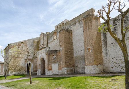 dilapidated: Church of San Andres Olmedo very dilapidated state, Valladolid, Spain