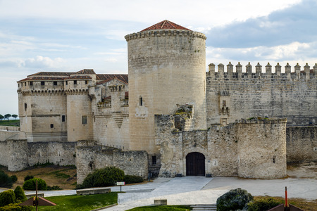 castile leon: Cuellar Castle, Segovia Province, Castile and Leon, Spain  Editorial