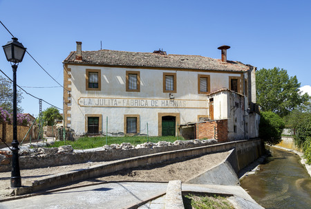 industrial heritage: Old factory Flour La Julita in Turegano, driven by water power, todays industrial heritage of Segovia Spain Editorial