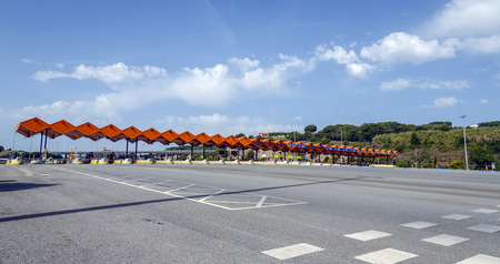 tollway: Customs toll road in Catalan Spain