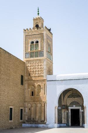 coran: Barber Mausoleum Tomb Abou Dhama of Kairouan, Tunisia, africa Stock Photo